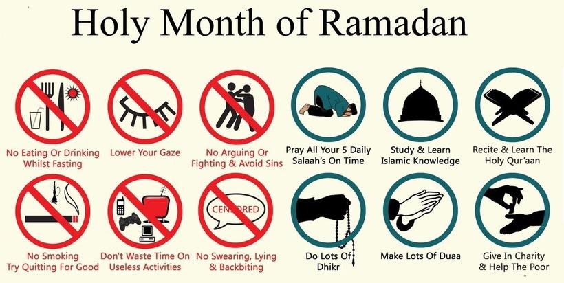 Holy month of Ramadan Dos and donts - Muslim Awaaz